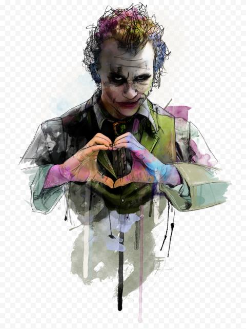 Artwork Of Joker Heath Ledger Illustration Art