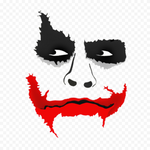 Joker Face With Red Mouth Silhouette