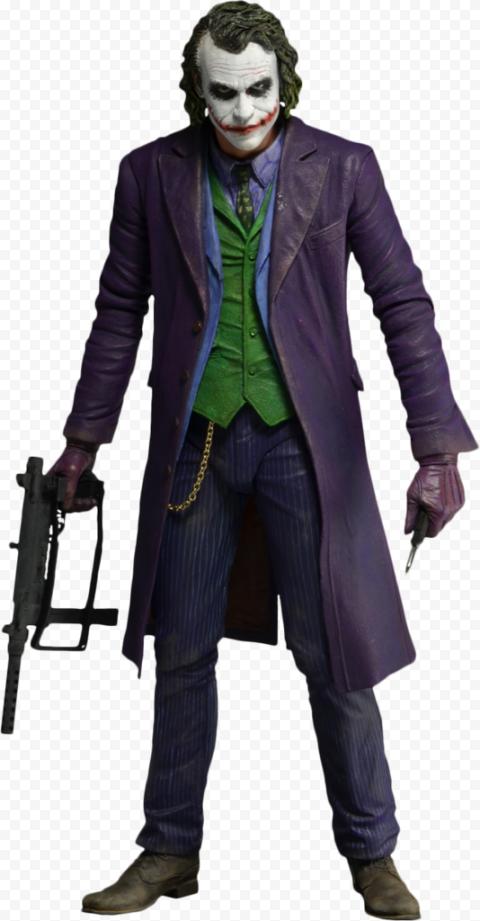 Standing Real Heath Ledger Joker Batman Hold Gun