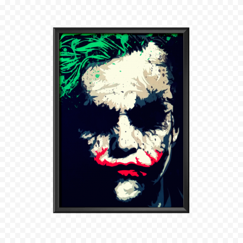 Joker Painting Face On A Hanging Wall Frame