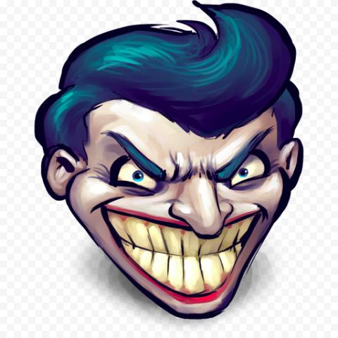 Cartoon Joker Head Face Clipart