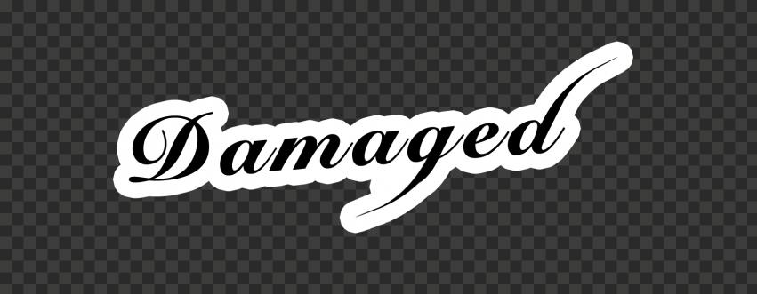 Joker Damaged Black Text High Resolution Stickers