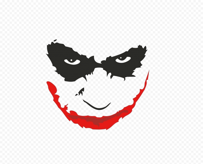 Joker Face Silhouette With Red Lips