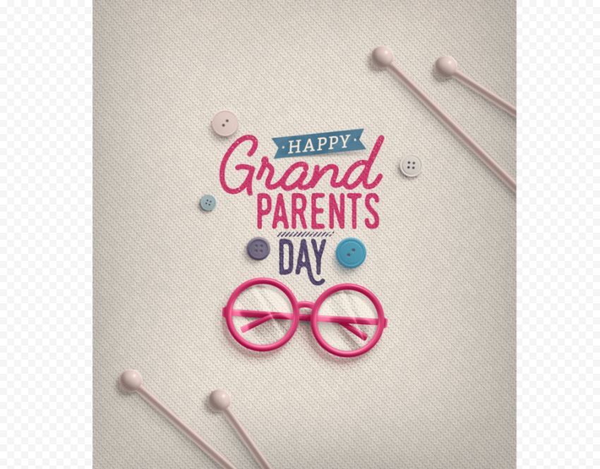 Happy Grandparents Day Creative Greeting Card