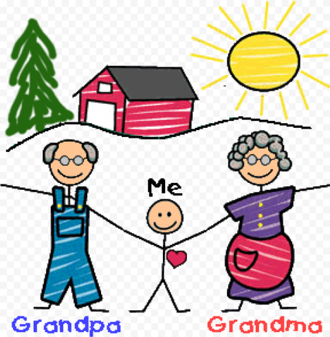 Child Drawing & Coloring National Grandparents Day