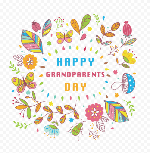 Happy National Grandparents Day Illustration
