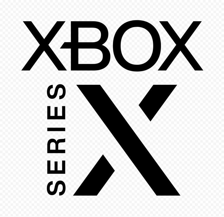 Black Xbox Series X Logo