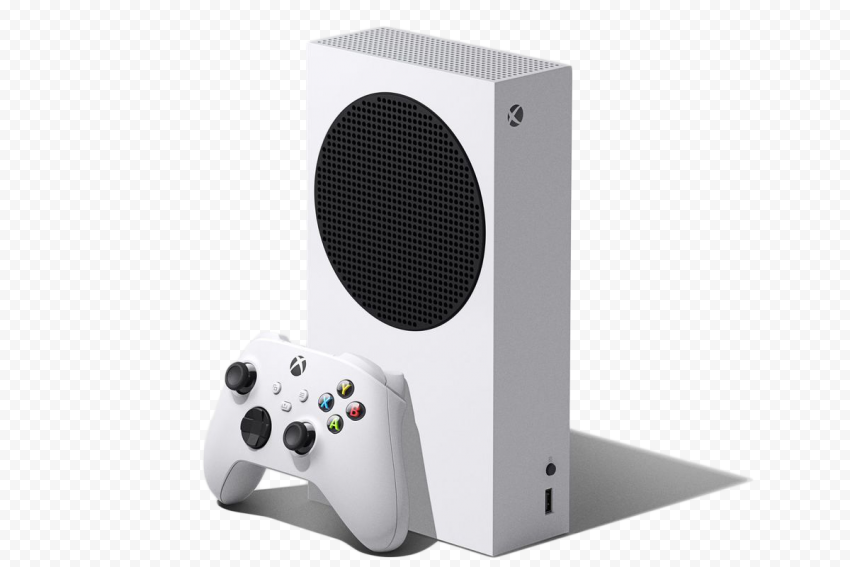 Standing White Xbox Series S Console With Controller