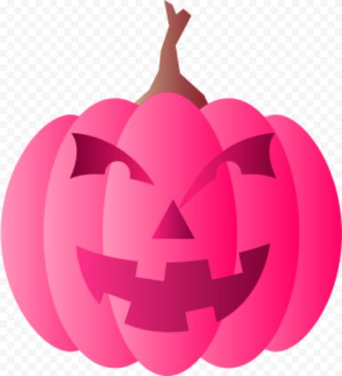 Monster Pink Pumpkin Jack O Lantern Illustration