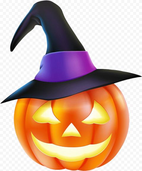 Halloween Scary Jack O Lantern Face Wear Witch Hat