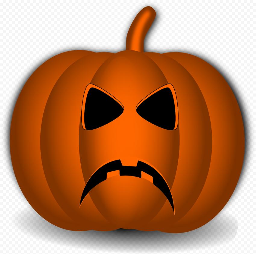 Halloween Pumpkin Jack O Lantern With Sad Face