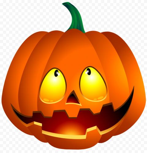 Cute Halloween Pumpkin Jack O Lantern Smiling