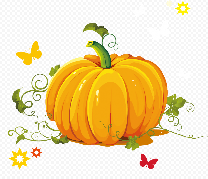 Orange Pumpkin Food Illustration Cartoon Clipart