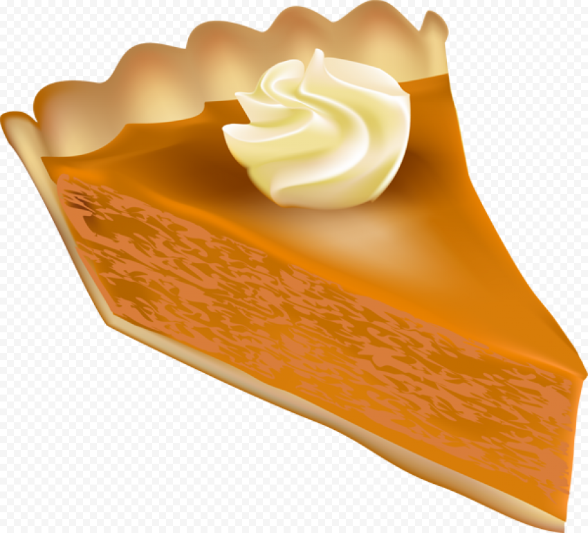 One Piece Of Pumpkin Pie Tart Illustration