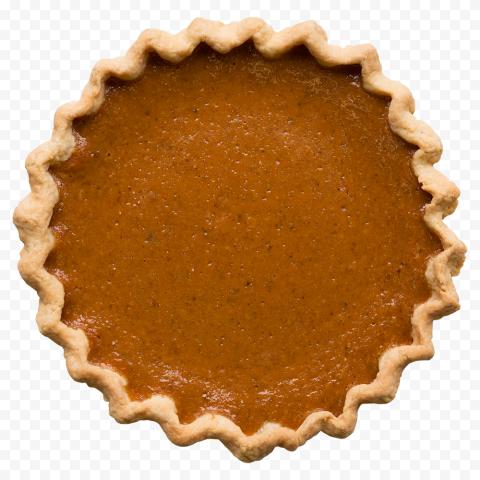 Real Round Pumpkin Pie Tart Top View