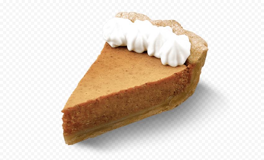 Real One Piece Of Pumpkin Pie Tart With Cream