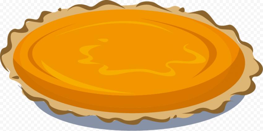 Cartoon Pumpkin Pie Tart Illustration Vector Clipart