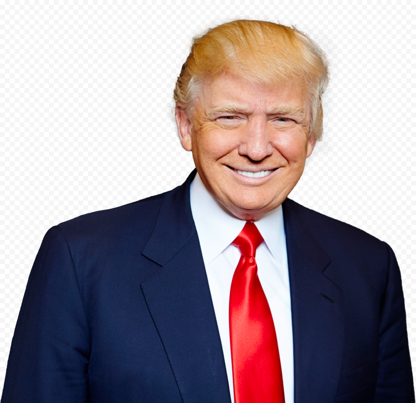 High Resolution Donald Trump Smiling Face