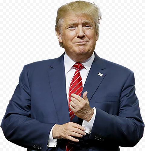 President Trump Wear Man Suit