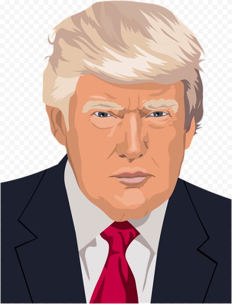 Donald Trump Portrait Vector Illustration