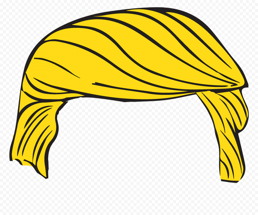 Donald Trump Cartoon Vector Yellow Hair