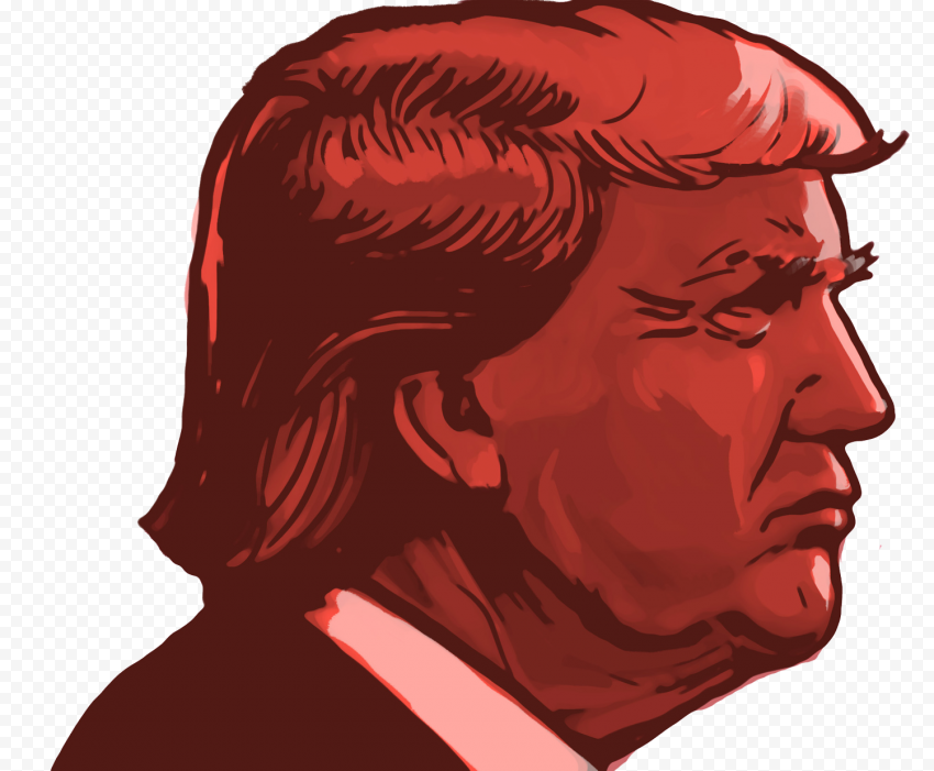 Donald Trump Election Red Face Clipart Cartoon