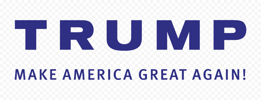 HD Blue Make America Great Again Logo Text Trump