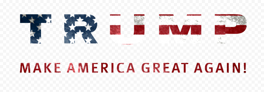 HD US Flag Make America Great Again Logo Text Trump