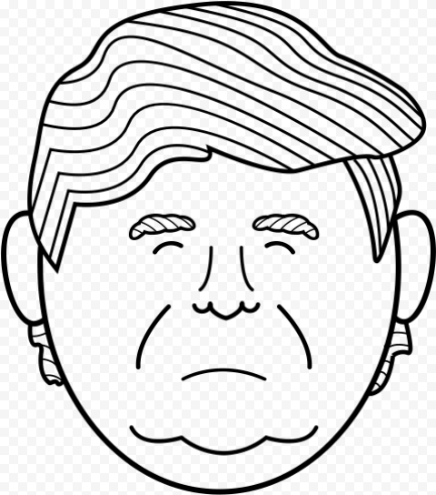 Trump Clipart Face Outline