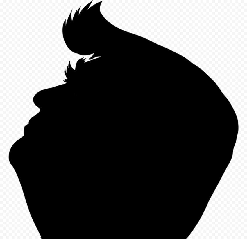 Black Donald Trump President Silhouette Side View