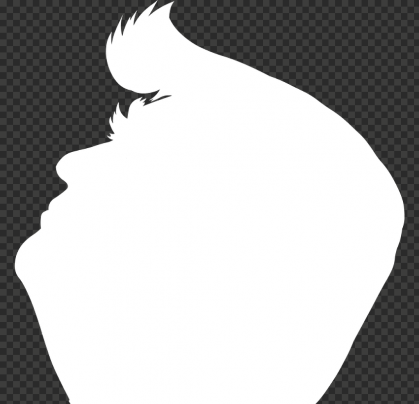White Donald Trump President Silhouette Side View