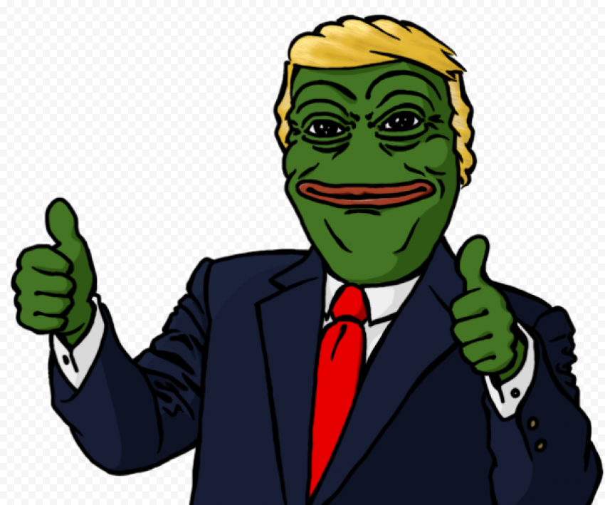 Donald Trump Pepe The Frog President Suit