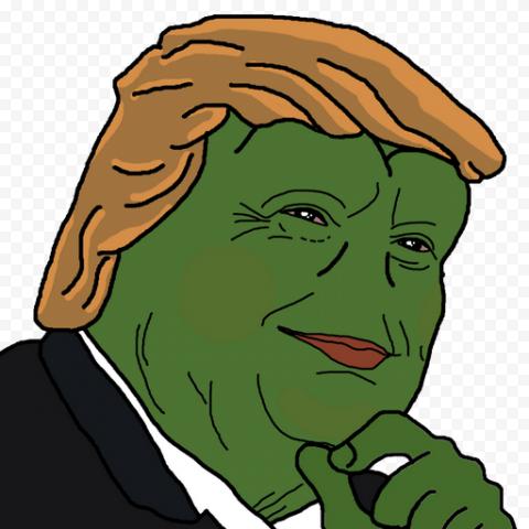Donald Trump Pepe Frog Face