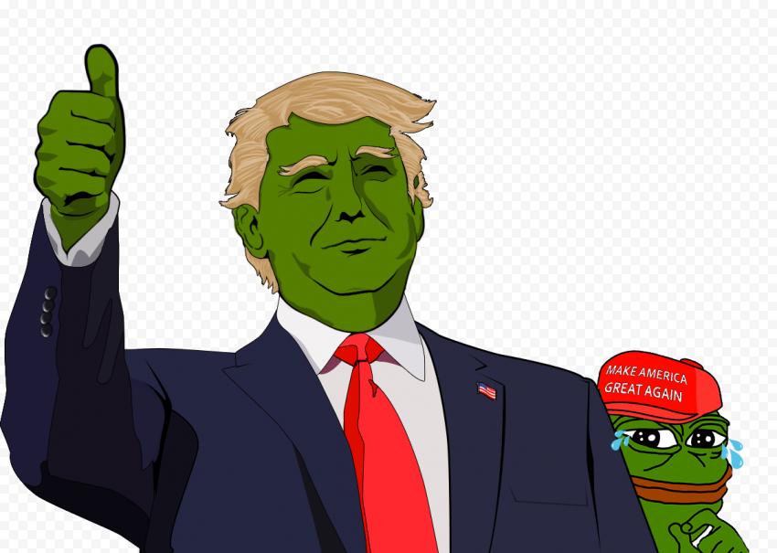 Trump Make America Great Again Pepe Frog Face