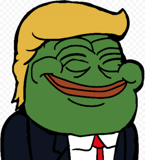 Pepe Frog Donald Trump Face Smiling Vector
