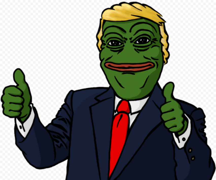 Trump Pepe Frog Hands Thumbs Up Signs