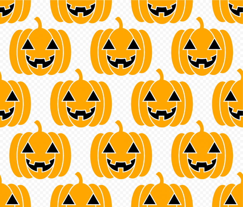 Pumpkins Faces Pattern Background