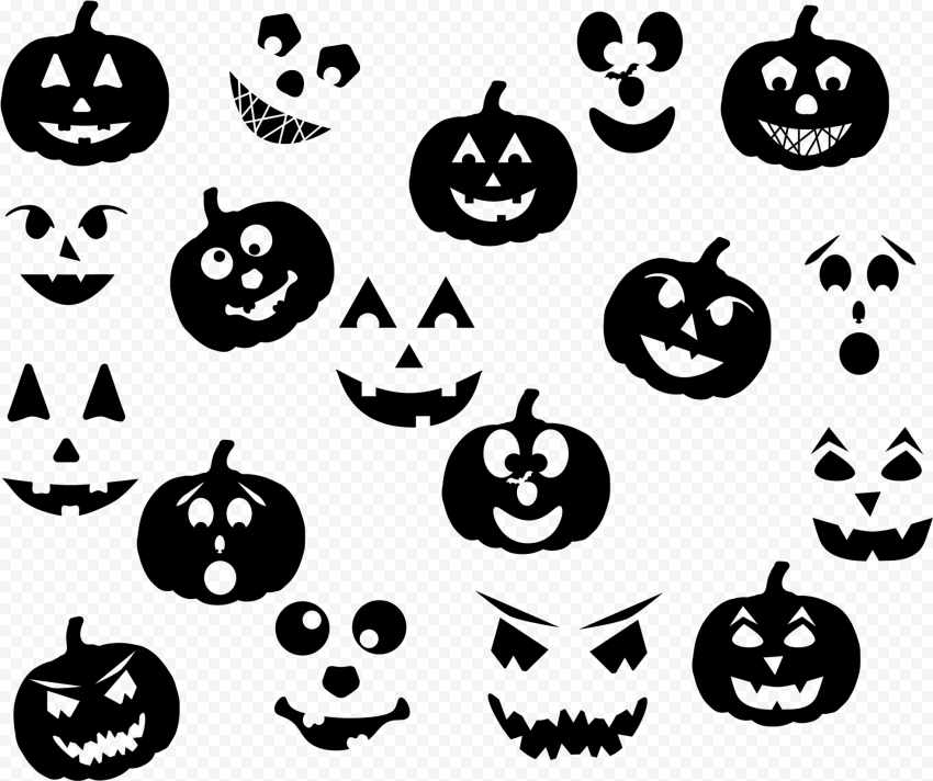Halloween Horror Pumpkin Ghost Pattern Background