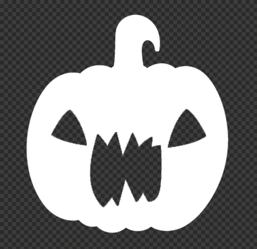 White Halloween Pumpkin Scary Shape Silhouette
