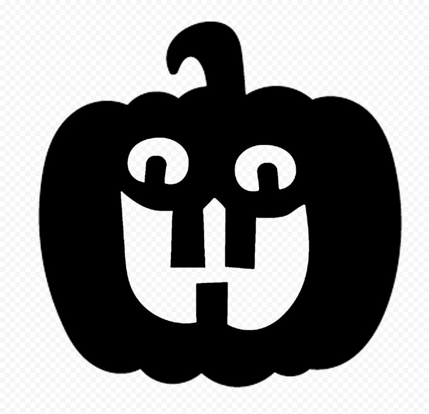 Black Halloween Pumpkin Happy Shape Silhouette