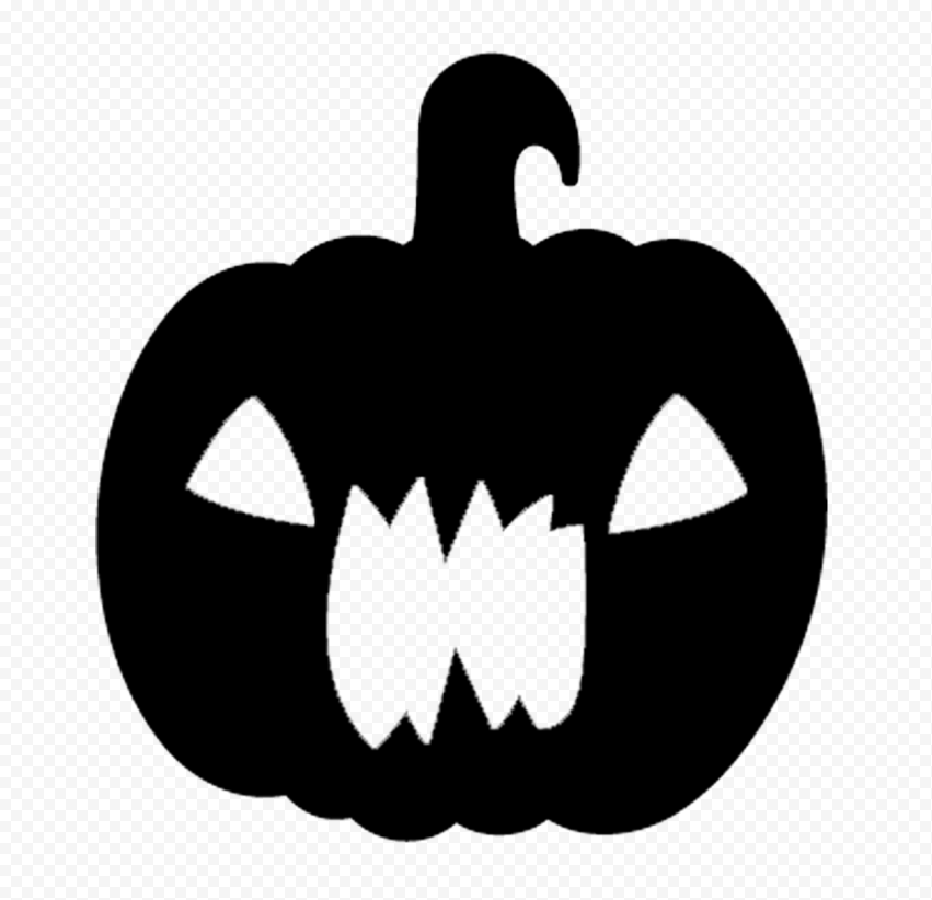 Black Halloween Pumpkin Scary Shape Silhouette