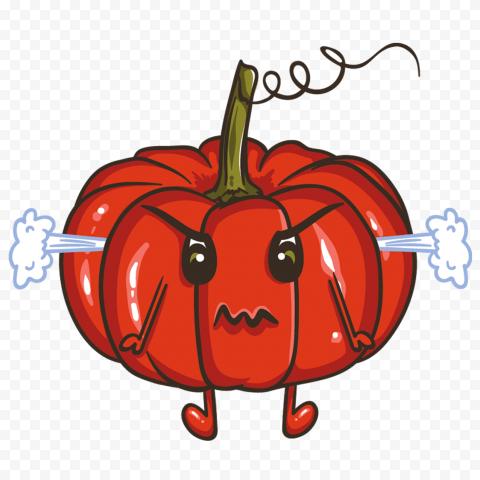 Angry Cartoon Pumpkin Jack O Lantern
