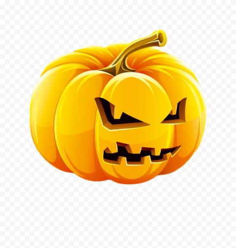 Pumpkin Jack O Lantern Evil Face Illustration