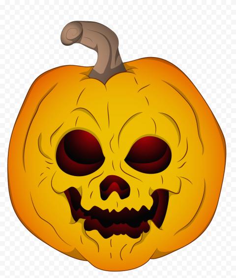 Vector Cartoon Scary Evil Horror Halloween Pumpkin