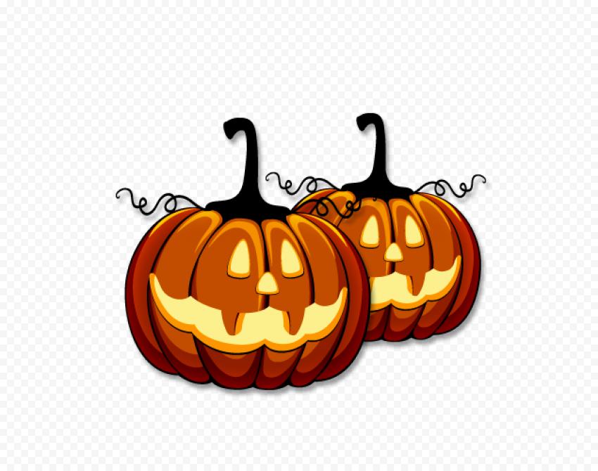 Cartoon Pumpkins Jack O Lanterns Vector