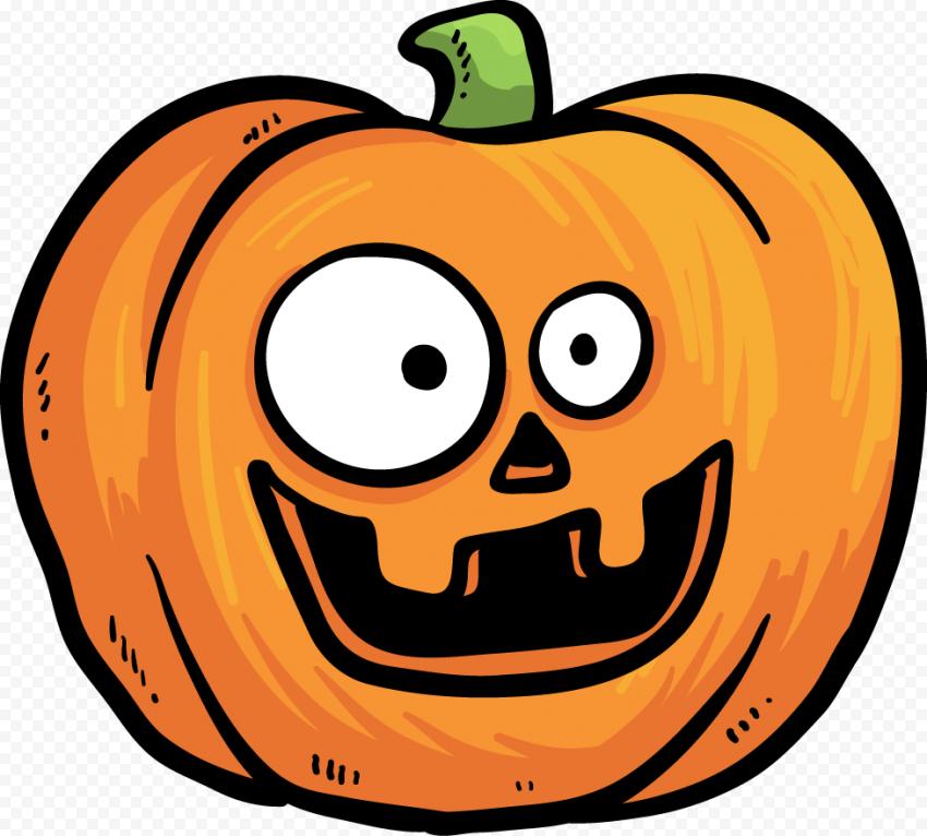 Cartoon Vector Happy Halloween Pumpkin