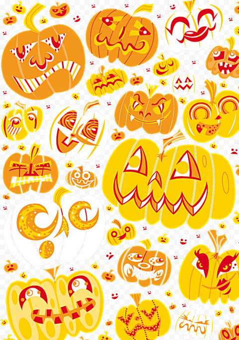 Vector Pumpkins Halloween Background