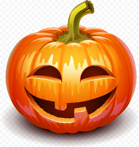 Smiling Halloween Pumpkin Happy Face Illustration
