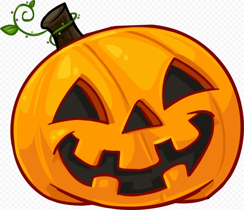 Cartoon Halloween Pumpkin Illustration Happy Face