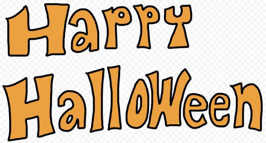 Happy Halloween Orange Text